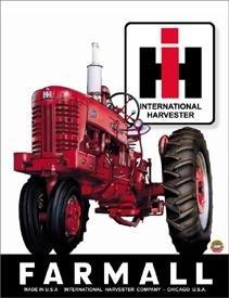 International Harvester Farmall Tractor Tin Sign #839