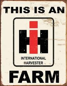 International Harvester Farmall Tractor Tin Sign #1279