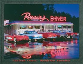 Rosies Hot Rod Diner Tin Sign #1128