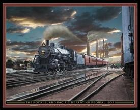 Train Locomotive Railroad Tin Sign #1276