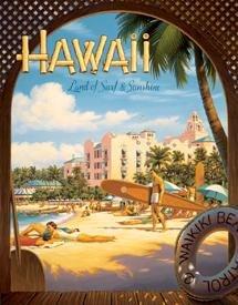 Hawaii Beach Tin Sign #1161