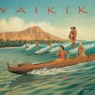Waikiki Beach Tin Sign #1208