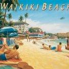 Waikiki Beach Tin Sign #1207