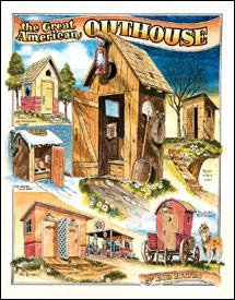 Great American Outhouse Tin Sign #1013