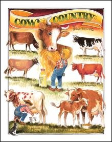 Cow Country Tin Sign #1171