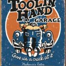 Tool In Hand Mechanic Tin Sign #1319