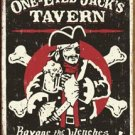 One Eyed Jacks Tavern Tin Sign #1322