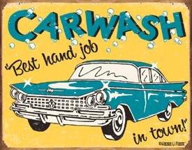 Best Carwash Tin Sign #1190