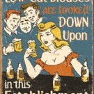 Low Cut Blouses Looked Down Upon Tin Sign #1500