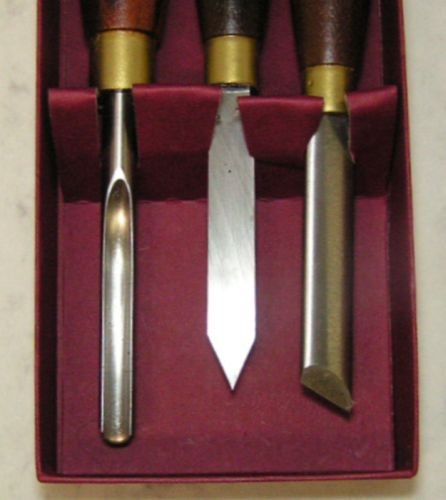 Crown New 3 PC Pen Turning Tools Set # 296A