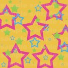 Miffle Stars - 12x12 - Orange Background