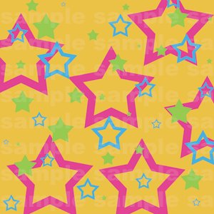 Miffle Stars - 12x12 - Orange Background