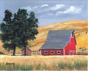Kansas Barn Landscape