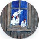 Chickens in Window