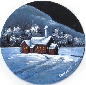 Moon lit Church