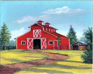 Texas Red Horse Barn