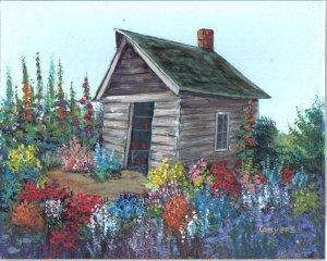 Granny's Flower Shed & garden