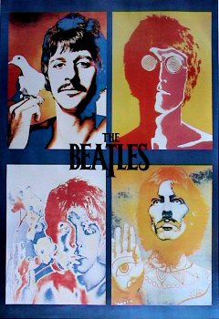 THE BEATLES POSTER Pop Art Collage RARE NEW HOT 24x36