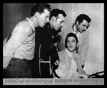 MILLION DOLLAR QUARTET POSTER 1956 Elvis Presley RARE