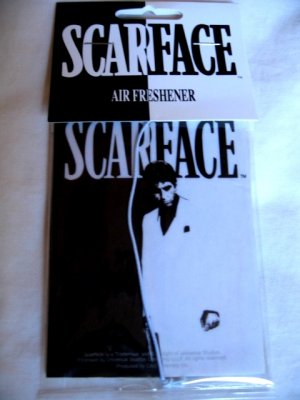 Scarface Al Pacino Air Freshener Movie Black & White Silhouette Design