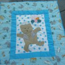 Blue Teddy Bear Quilt Blanket