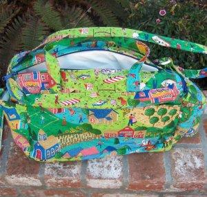 Large Infant Diaper Bag  Grandma Moses Style Like NEW