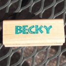 Becky Rubber Stamp - Rubber Stampede