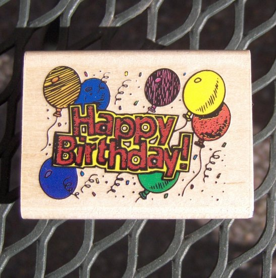 Rubber Stamp - Happpy Birthday by Rubber Stampede NEW