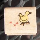 Rubber Stamp - Duck with Heart footsteps by Rubber Stampede NEW