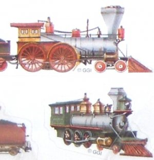 Gibson Stickers - Train Engines - Assorted