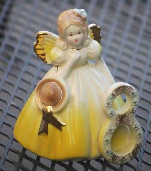 Josef Originals China Doll Figurine 8 Vintage Collectable Gold November