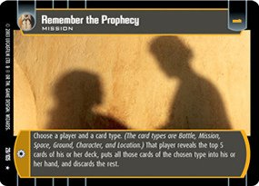 #029 Remember the Prophecy Star Wars TCG JG
