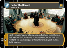 #013 Gather the Council Star Wars TCG JG