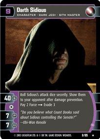 #008 Darth Sidious (C) Star Wars TCG JG