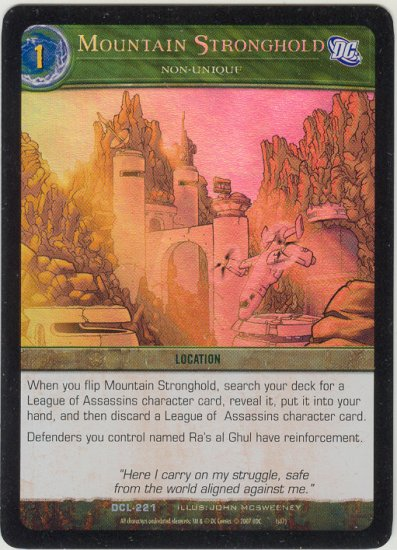 Mountain Stronghold FOIL DCL-221 (U) DC Legends VS System TCG
