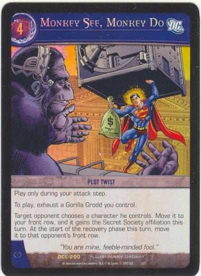 Monkey See, Monkey Do FOIL DCL-200 (R) DC Legends VS System TCG
