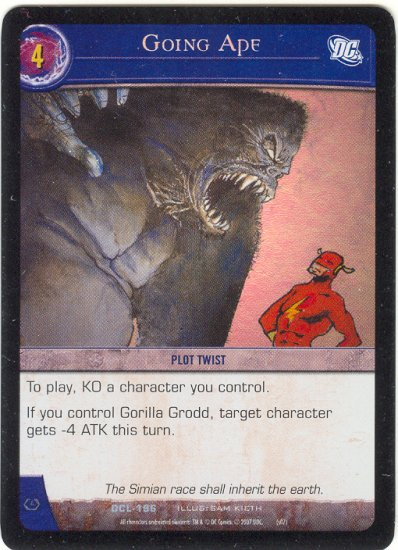 Going Ape FOIL DCL-196 (U) DC Legends VS System TCG