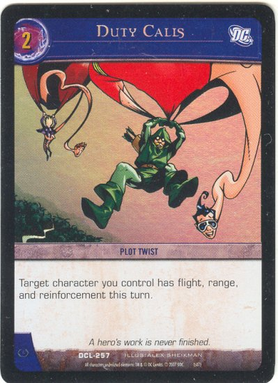 Duty Calls FOIL DCL-257 (C) DC Legends VS System TCG
