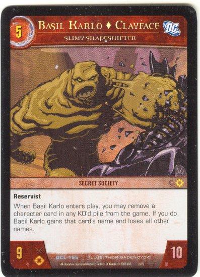 Basil Karlo Clayface, Slimy Shapeshifter FOIL DCL-155 (U) DC Legends VS System TCG