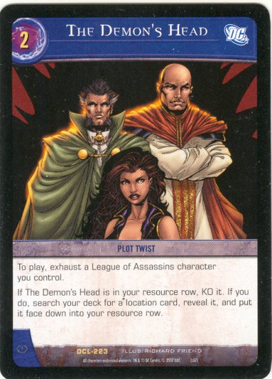 The Demon's Head DCL-223 (R) DC Legends VS System TCG