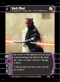 #8 Darth Maul (C) (SR rare)