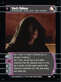 #9 Darth Sidious (B) (SR rare)