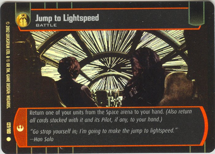 #137 Jump to Lightspeed FOIL ANH