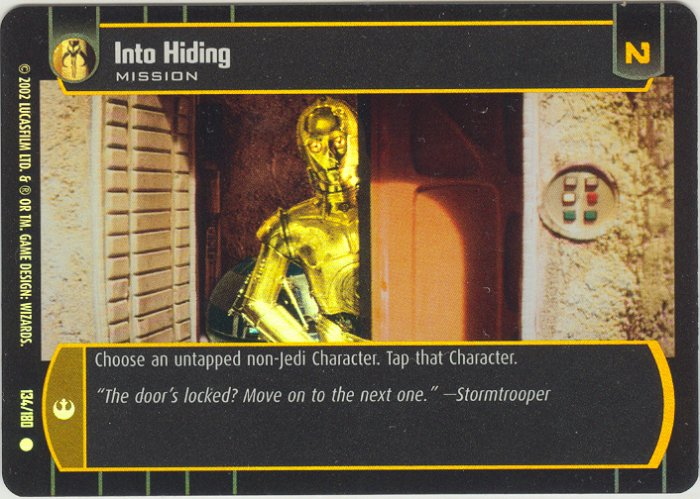 #134 Into Hiding FOIL ANH
