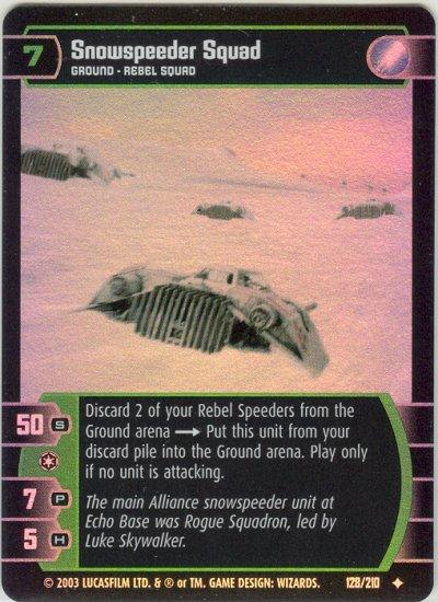 #128 Snowspeeder Squad Star Wars TCG FOIL (ESB uncommon)