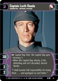 #8 Captain Lorth Needa (A) (ESB rare) Star Wars TCG