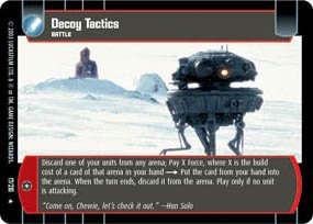 #17 Decoy Tactics (ESB rare) Star Wars TCG