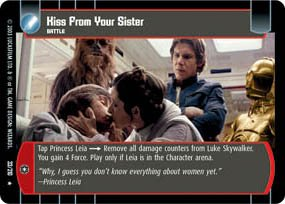 #33 Kiss From Your Sister (ESB rare) Star Wars TCG