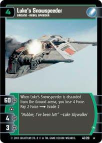 #40 Luke's Snowspeeder (A) (ESB rare) Star Wars TCG