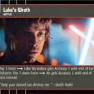 #41 Luke's Wrath (ESB rare) Star Wars TCG
